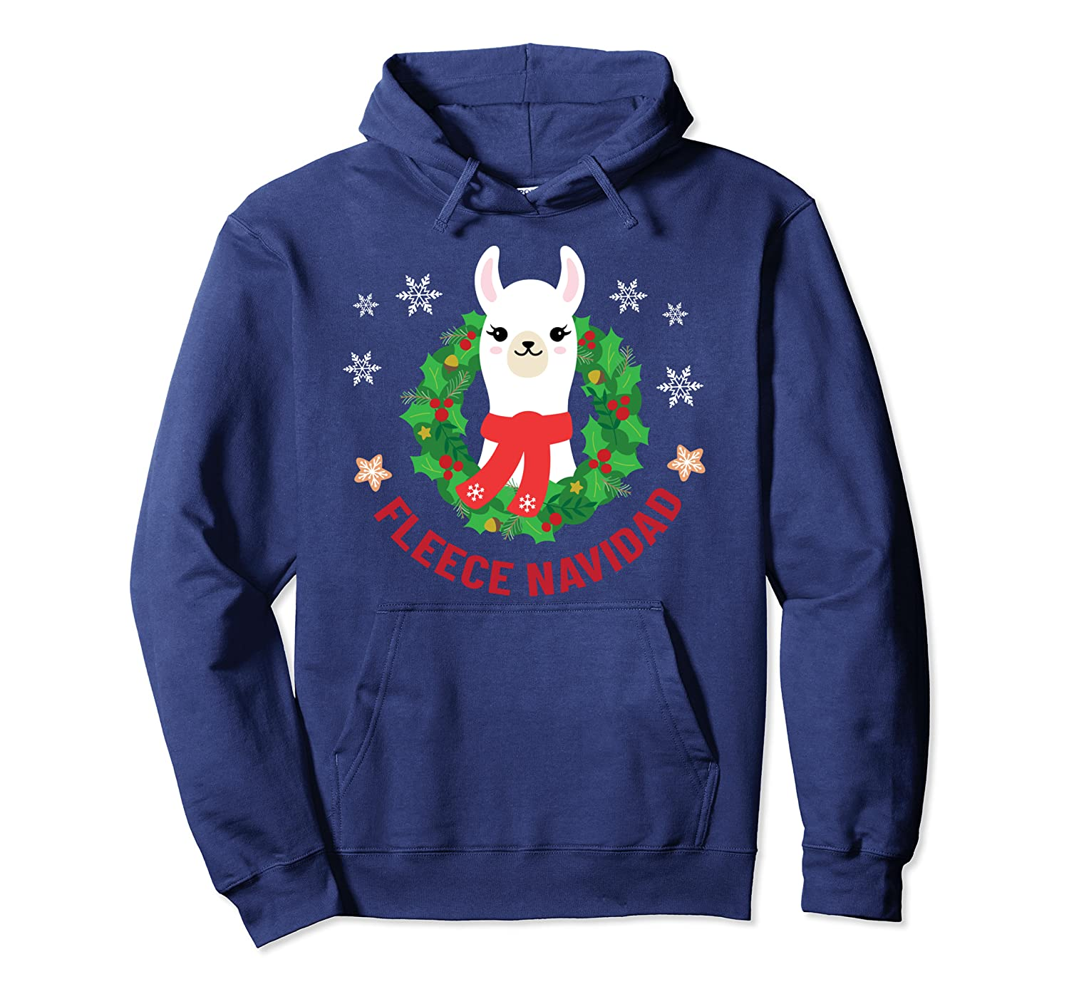Christmas Inspired Design For Alpaca Lovers Pullover Hoodie 1