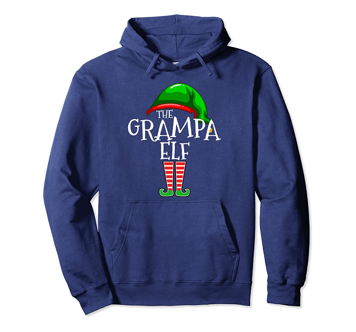 Grandpa Elf Group Matching Family Christmas Gift Couple Set Pullover Hoodie