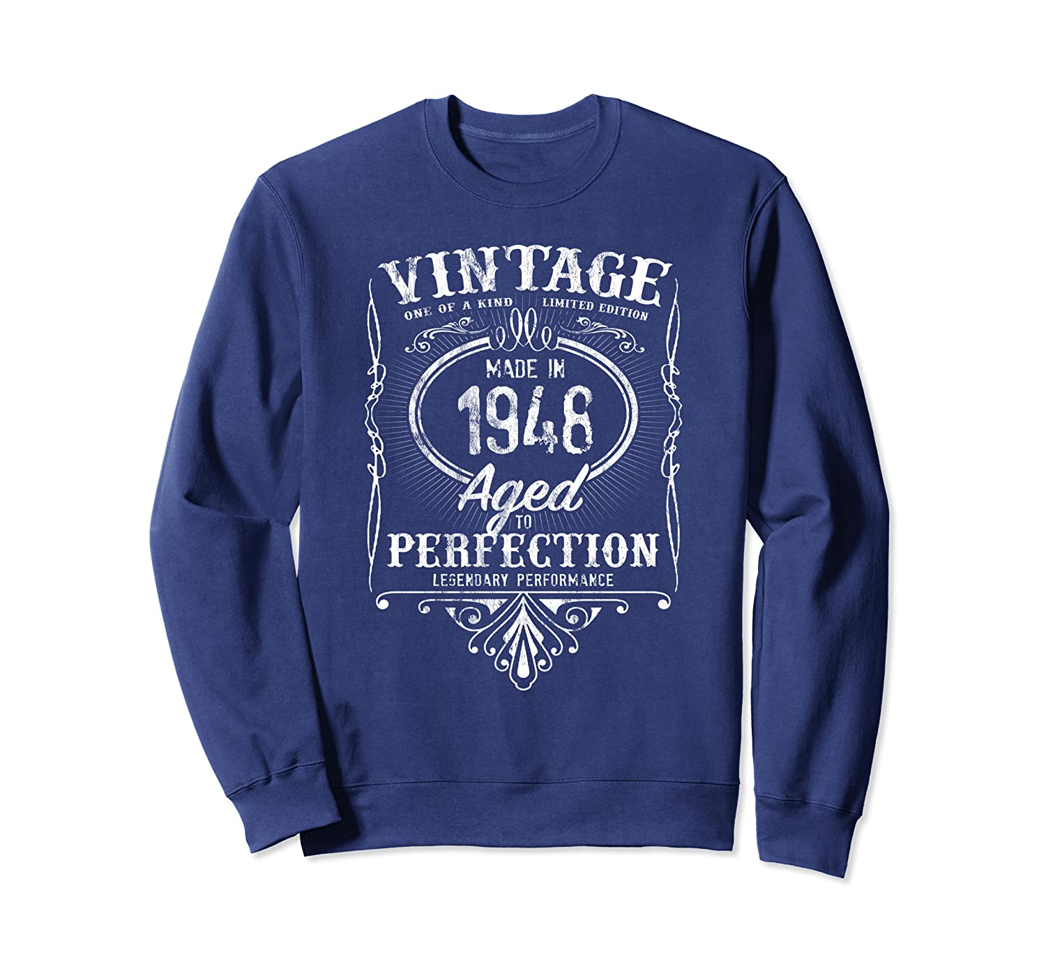 vintage made in 1948 classic 71st birthday aged perfection sweatshirt 1 - Classic Shop